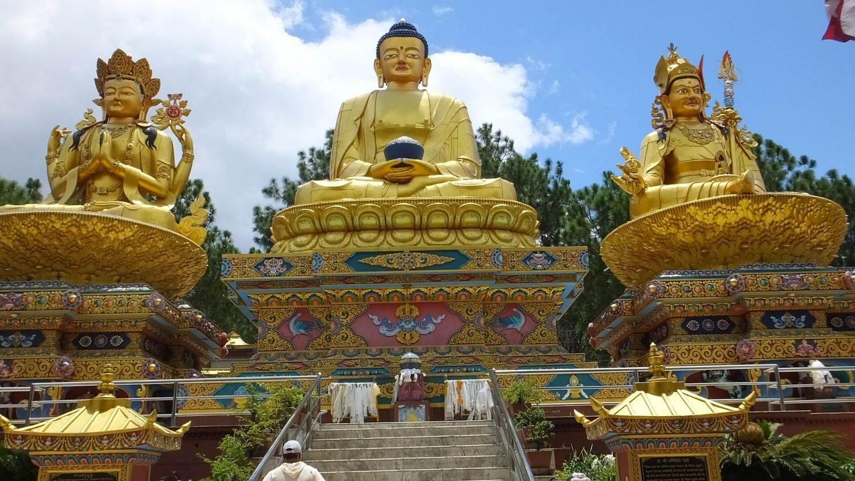 Three Giant Buddha at Amideva Buddha Park