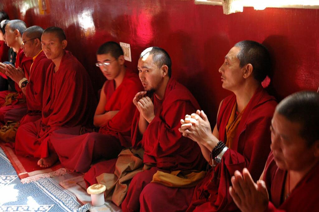 Monks at Boudha