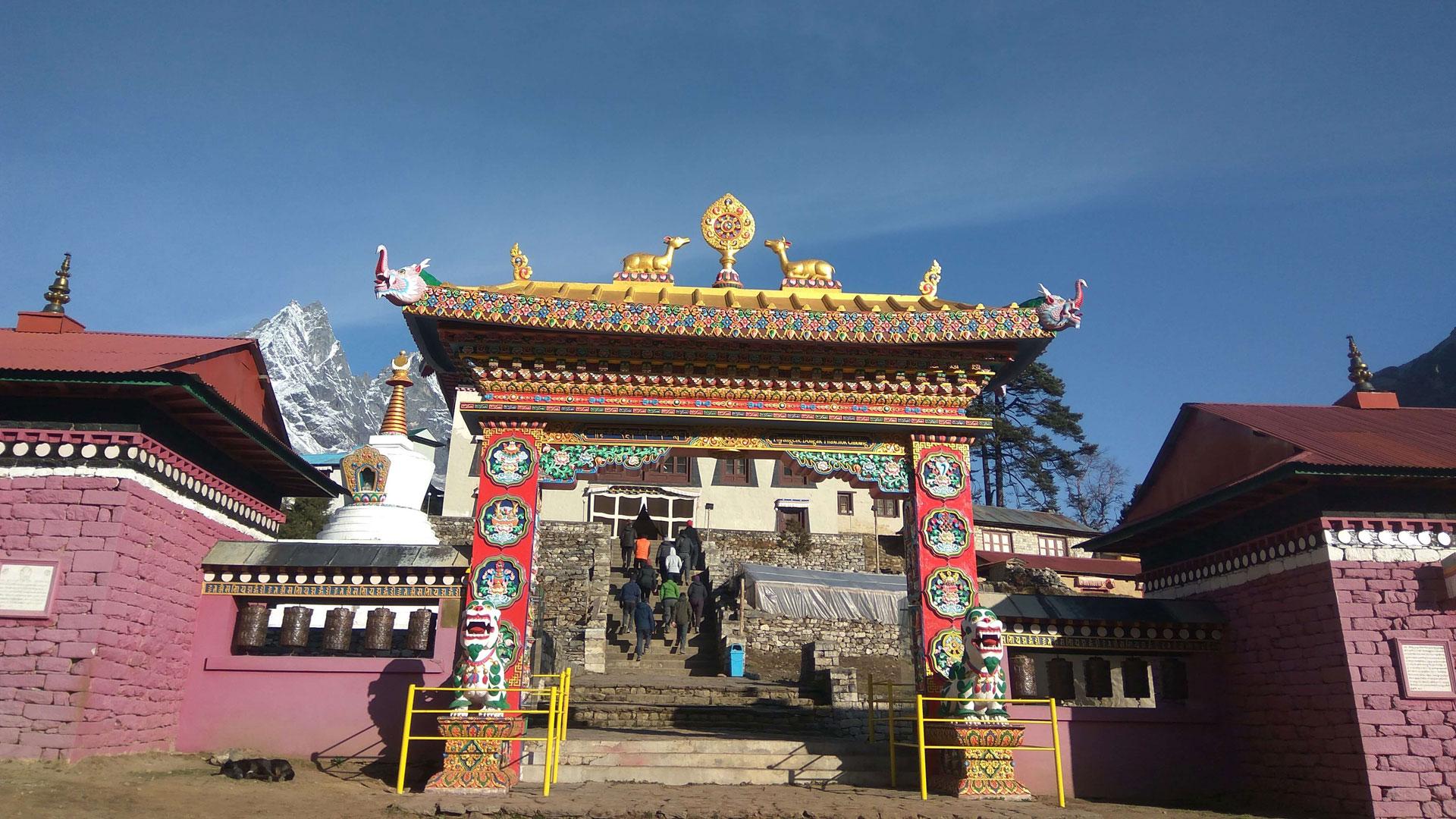 Entrance gate of Tengboche Monastery