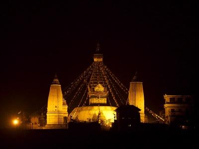 Swayambhunath at Night